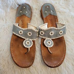 Jack Roger's blue sandals thongs